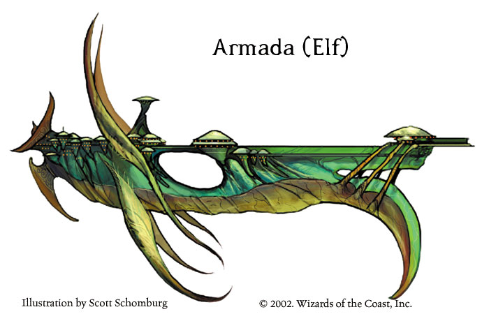 Armada elfique par Scott Schomburg