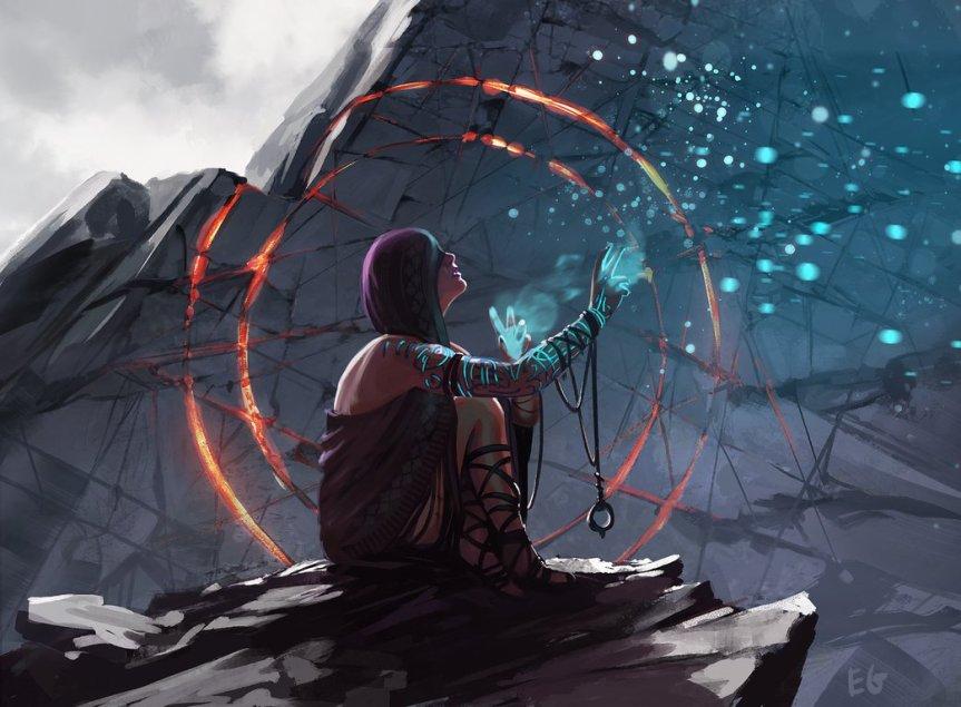 cliffside_ritual_by_entroz-d9xe1j2